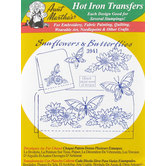 Sunflowers & Butterflies Embroidery Pattern